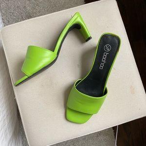 Neon green mule